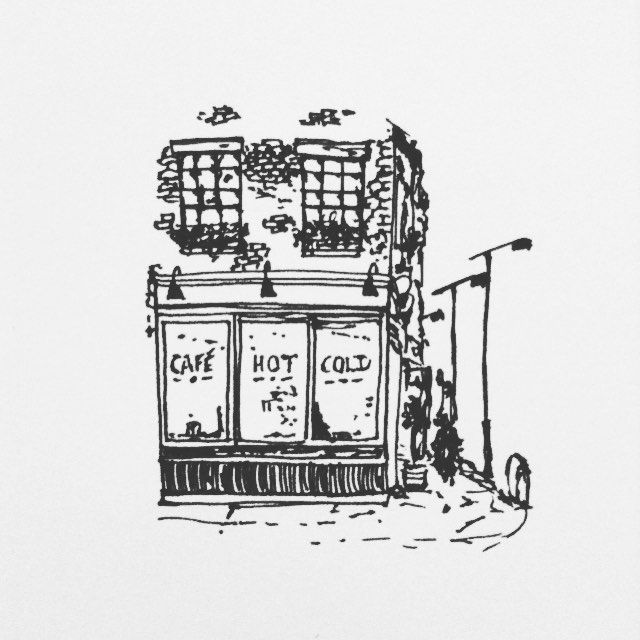 New York Café inspired by @christinaperri and her love of everything NYC.  #newyorkcity #pen #ink #newyork #black #white #illustrate #illustrator #illustration #illustrations #sketch #sketching #sketchbook #draw #drawing #art #artistic #artist #artsy