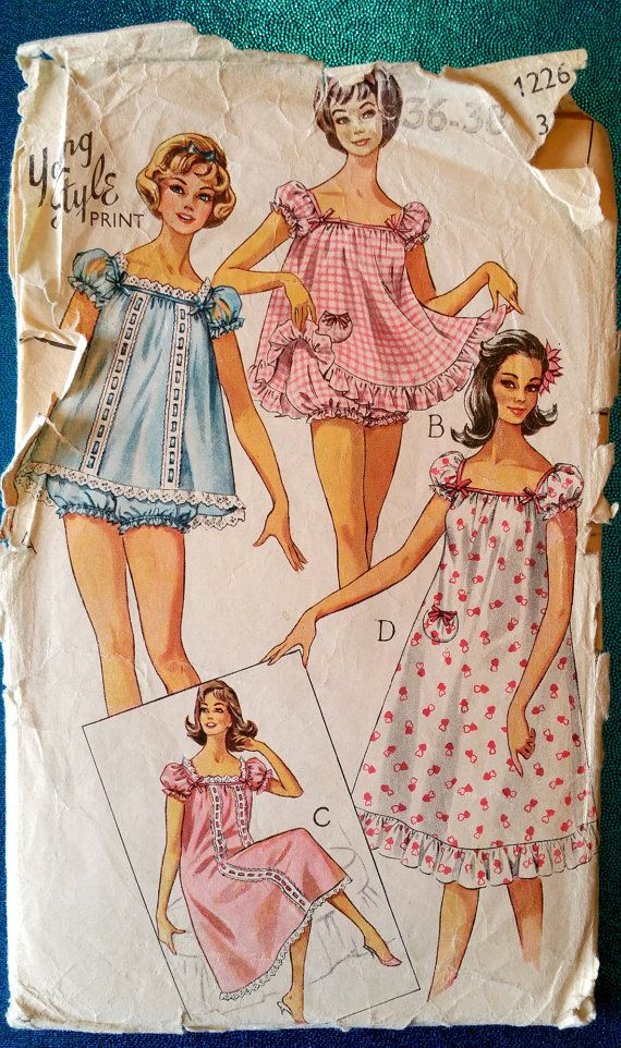 Vintage Baby Doll Pyjama Amp Nightie Sewing Pattern By