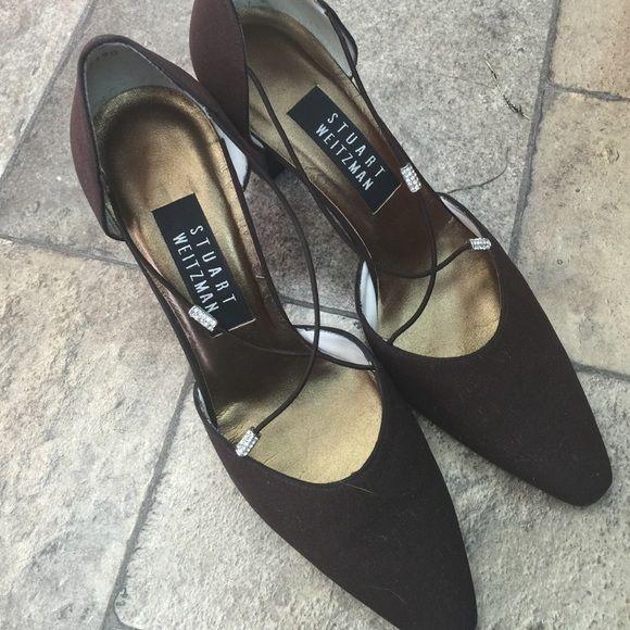 """Stuart weizman size 7.5 heel 4"""" narrow feet. Stuart weizman size 7.5 brown. heel 4"""" narrow feet. 3.5 Stuart Weitzman Shoes Heels"""