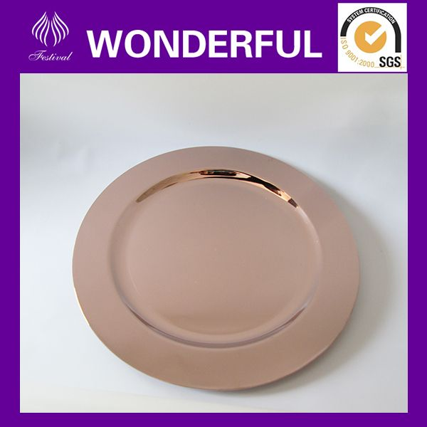 Source Wholesale Rose Gold Disposable Plastic Plates On M Alibaba