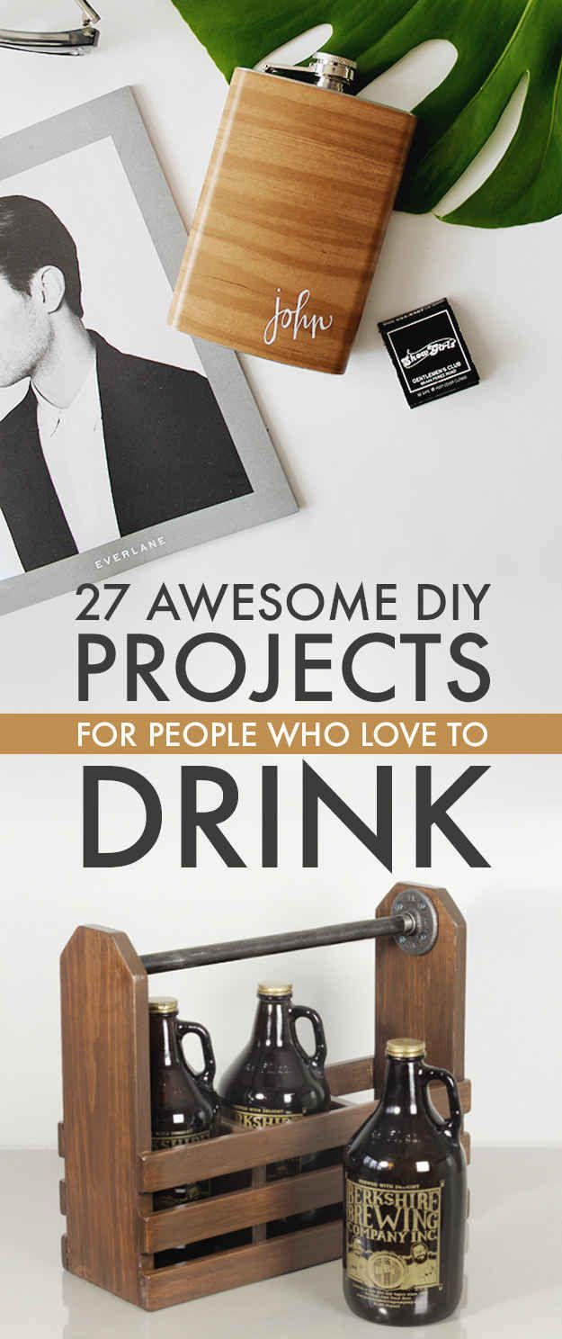 27 clever diy projects that'll make drinking even better | awesome