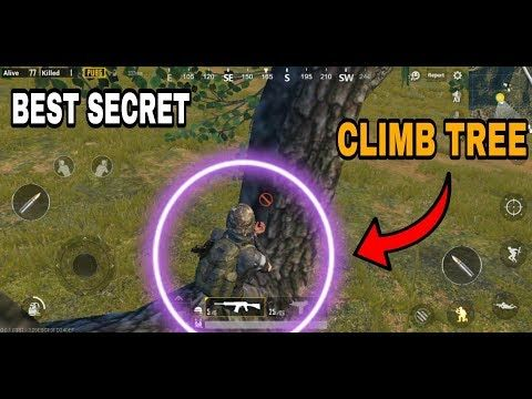 PUBG MOBILE SECRET HOW TO CLIMB IN TREE | Best Tips And Tricks In Pubg Mobile!!