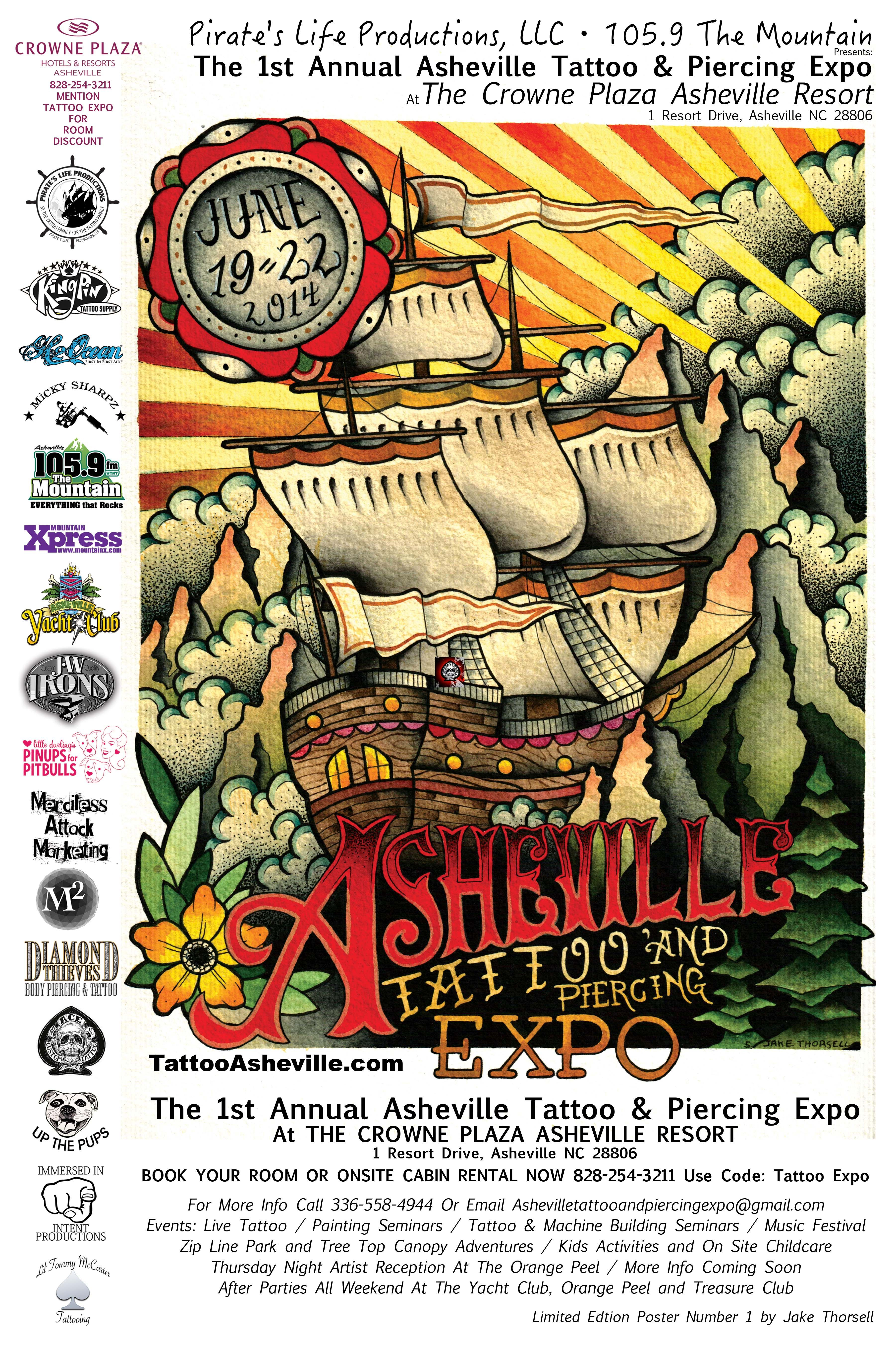 Asheville tattoo and Piercing expo June 1922,2014 (With