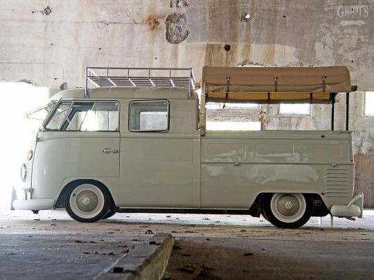 On the wish list, for no other reason than coolness. chromjuwelen: 1965 Volkswagen Double Cab