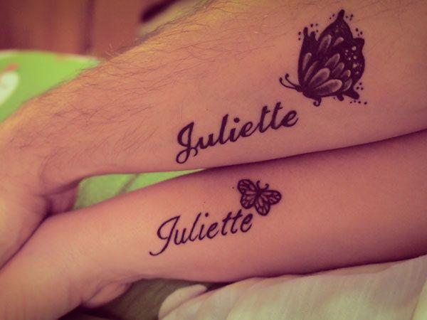 Juliette Couples Tattoo Design - http://tattoosaddict.com/juliette-couples-tattoo-design.html #coupes tattoos, couple tattoos, couples, design, juliette, tattoo