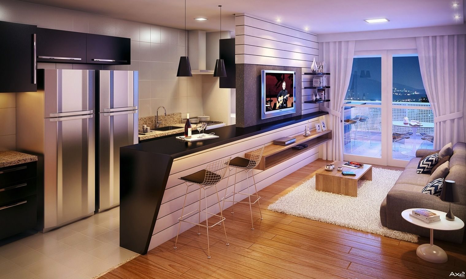 23 Open Concept Apartment Interiors For Inspiration. Living Room ModernKitchen  Living RoomsLiving Room WallsApartment Interior DesignInterior ...