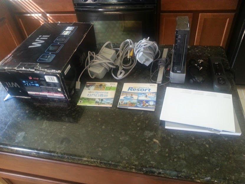 Nintendo Wii Black Console Nintendo Wii sports, Wii