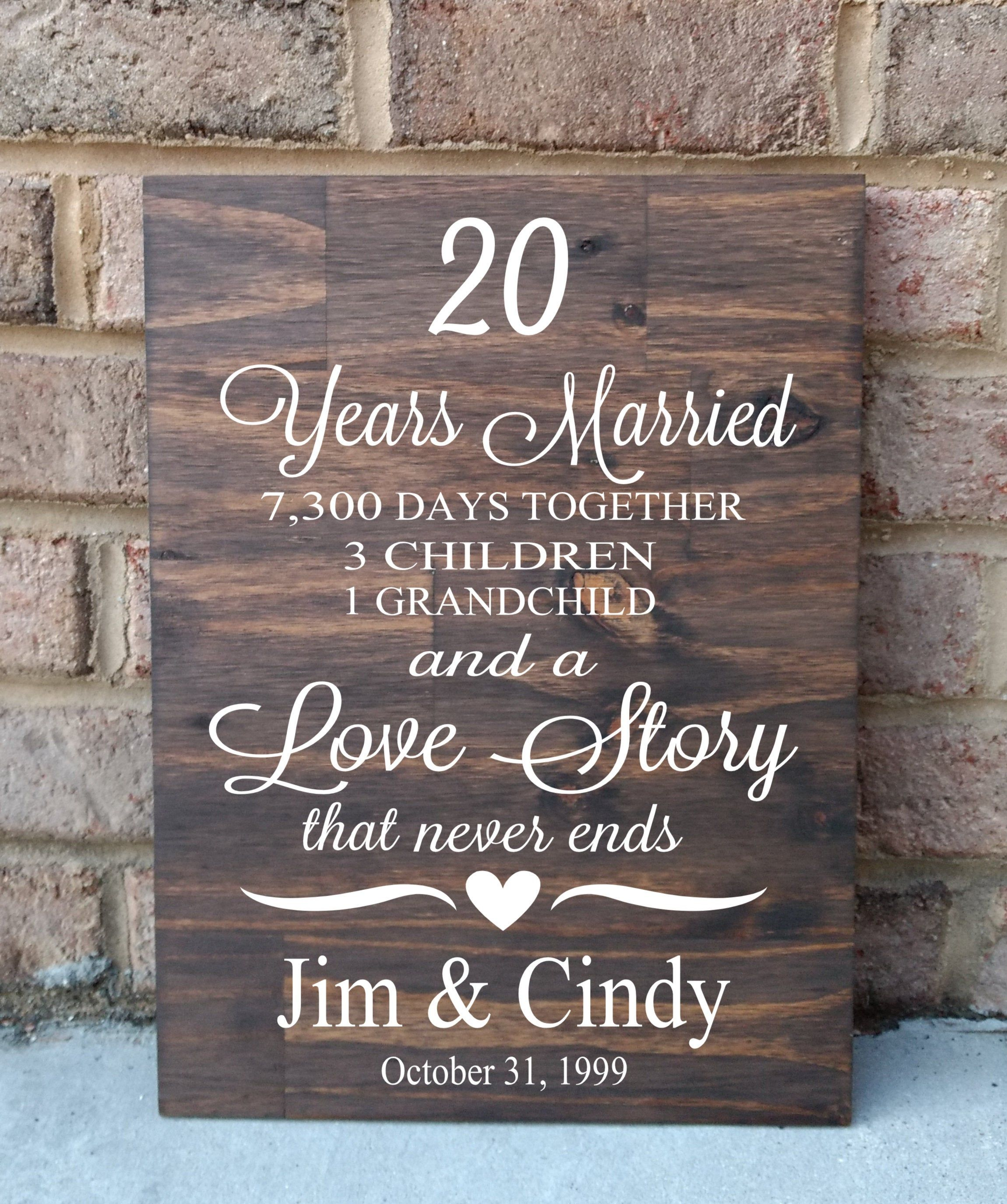 20 Years Of Marriage Hand Painted Wood Sign 20th Anniversary Etsy In 2020 40th Anniversary Gifts 20th Anniversary Gifts 30th Anniversary Gifts