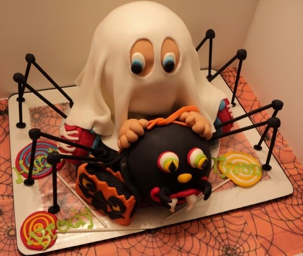 Along for the Ride Ghost Spider Halloween Cake