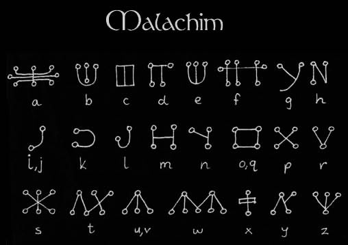 "Ceremonial Magick Alphabets - ""Passing the River ... Passing The River Alphabet"