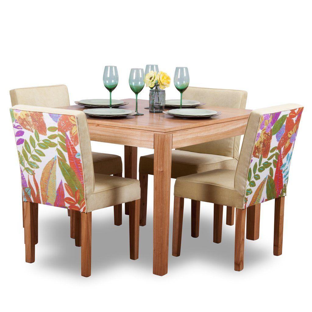 Juego de comedor p 4 personas mesa cuadrada 4 sillas for Juego de mesa y sillas para cocina
