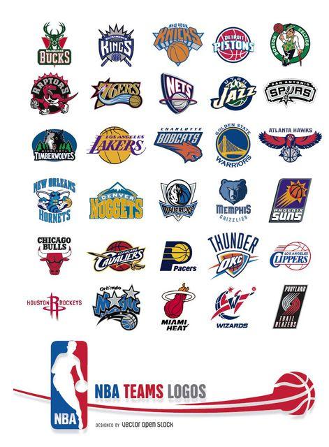 Nba Teams Logos Free Vector Nba Teams Nba Nba Logo