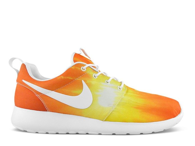 usine authentique eac3b 1a7fb Soldes Homme Nike Roshe Run Sunset Blanche Orange Gradient ...