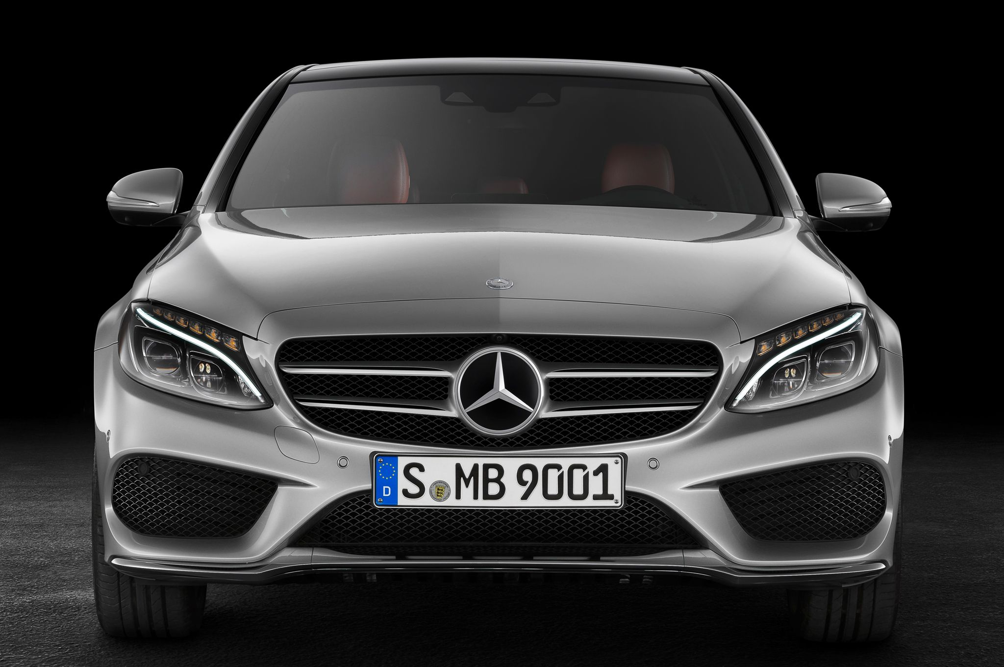 2015 Mercedes Benz C Class Front View Free Wallpaper Download Benz C Mercedes Benz Mercedes New Car