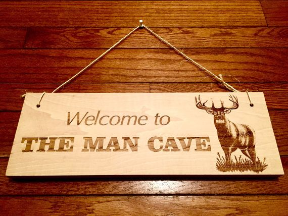 Hunters Man Cave Signs : Deer hunter man cave wooden sign *home decor