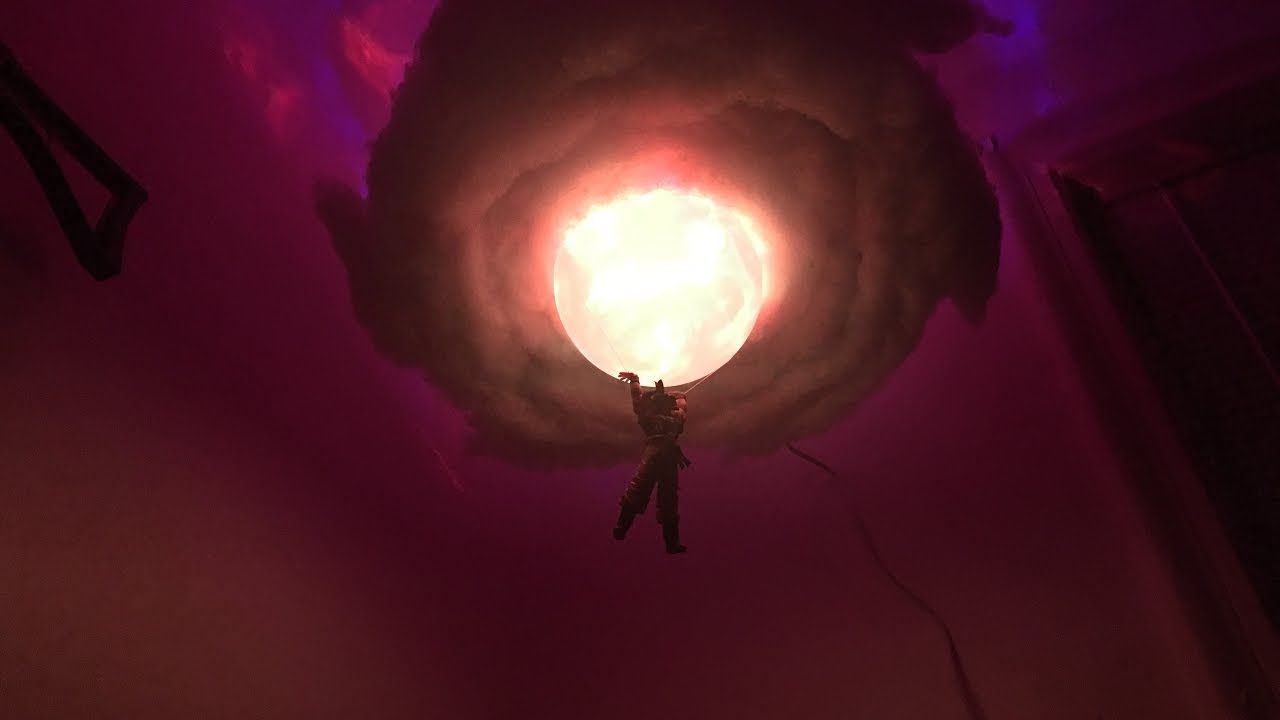 Dragon Ballz Goku Spirit Bomb Cloud Lamp 2 With Laser Show Youtube Lampara Goku Decoracion De Habitacion Hippie Lampara Nube