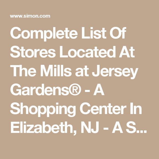7a1d33727c3e54d850fe322d57d6e96c - New Jersey Gardens Outlet Mall Directions