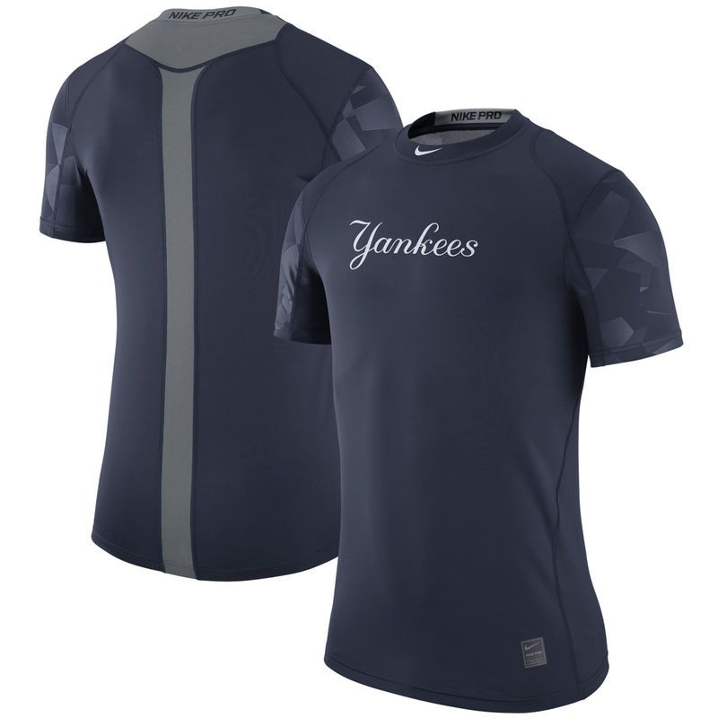 418838d72 New York Yankees Nike Pro Cool Performance T-Shirt - Navy