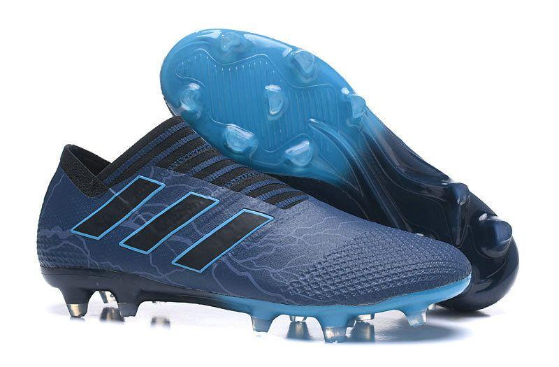 size 40 46689 d342a Men Adidas Nemeziz Messi 17+ 360 AG 2018 Word Cupility FG 2018 Word Cup  Navy Blue Black