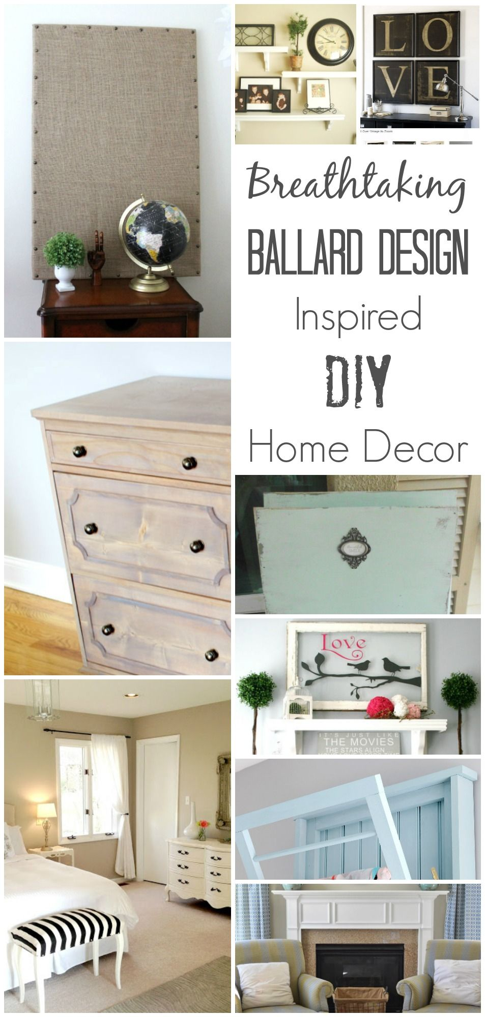 DIY Ballard Design Inspired Home Decor DIY