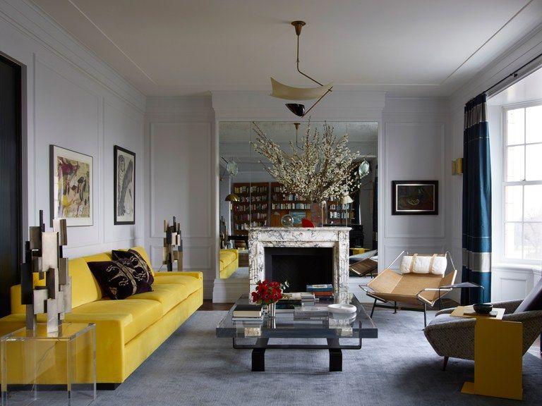 Wohnzimmer Viktorianischen Stil Moderne Twist Schwarz Gelb | Home Decor |  Pinterest | Interiors, Living Rooms And Room