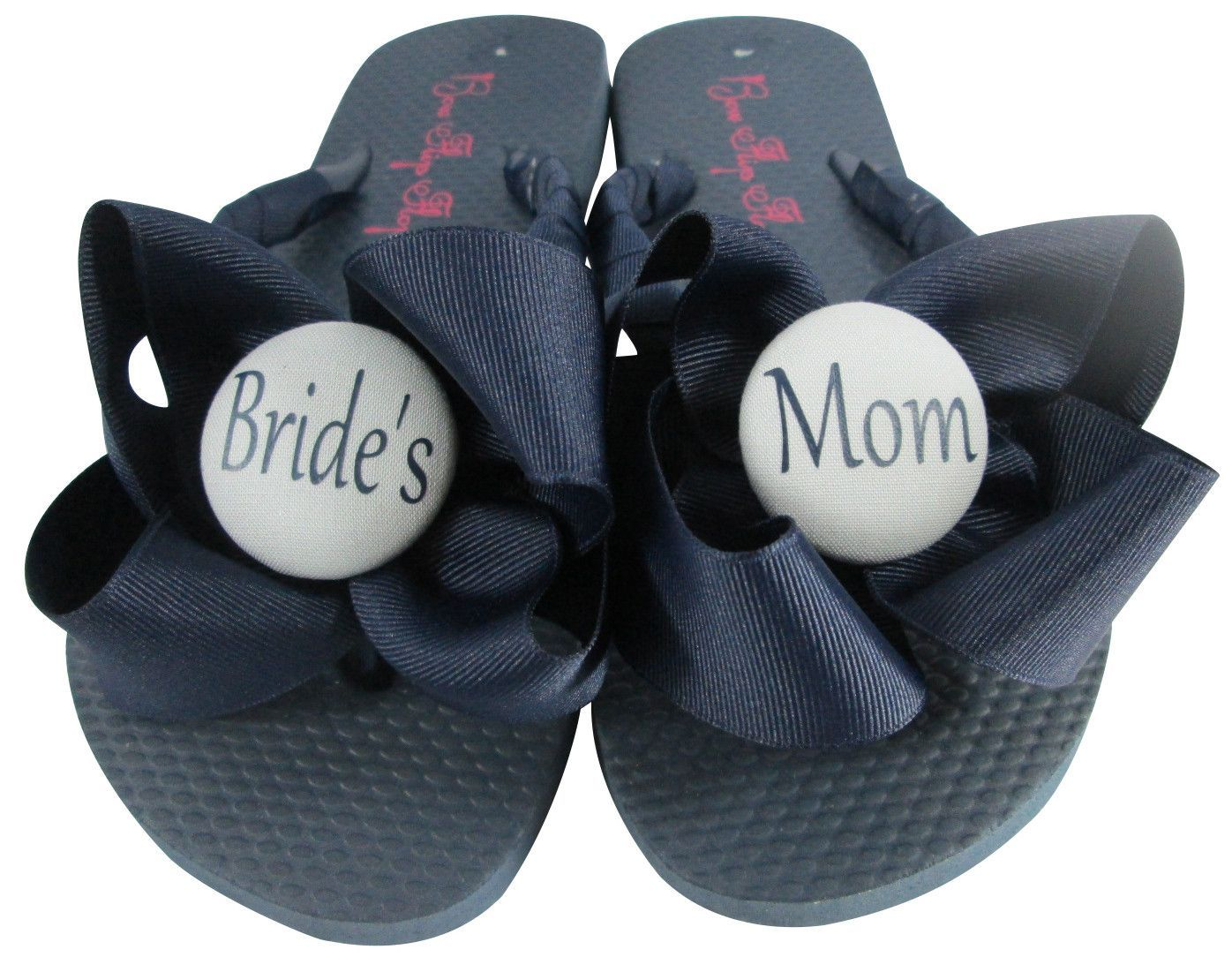 498968d27833 Mother of the Bride Flip Flops in Navy- choose from many colors ...