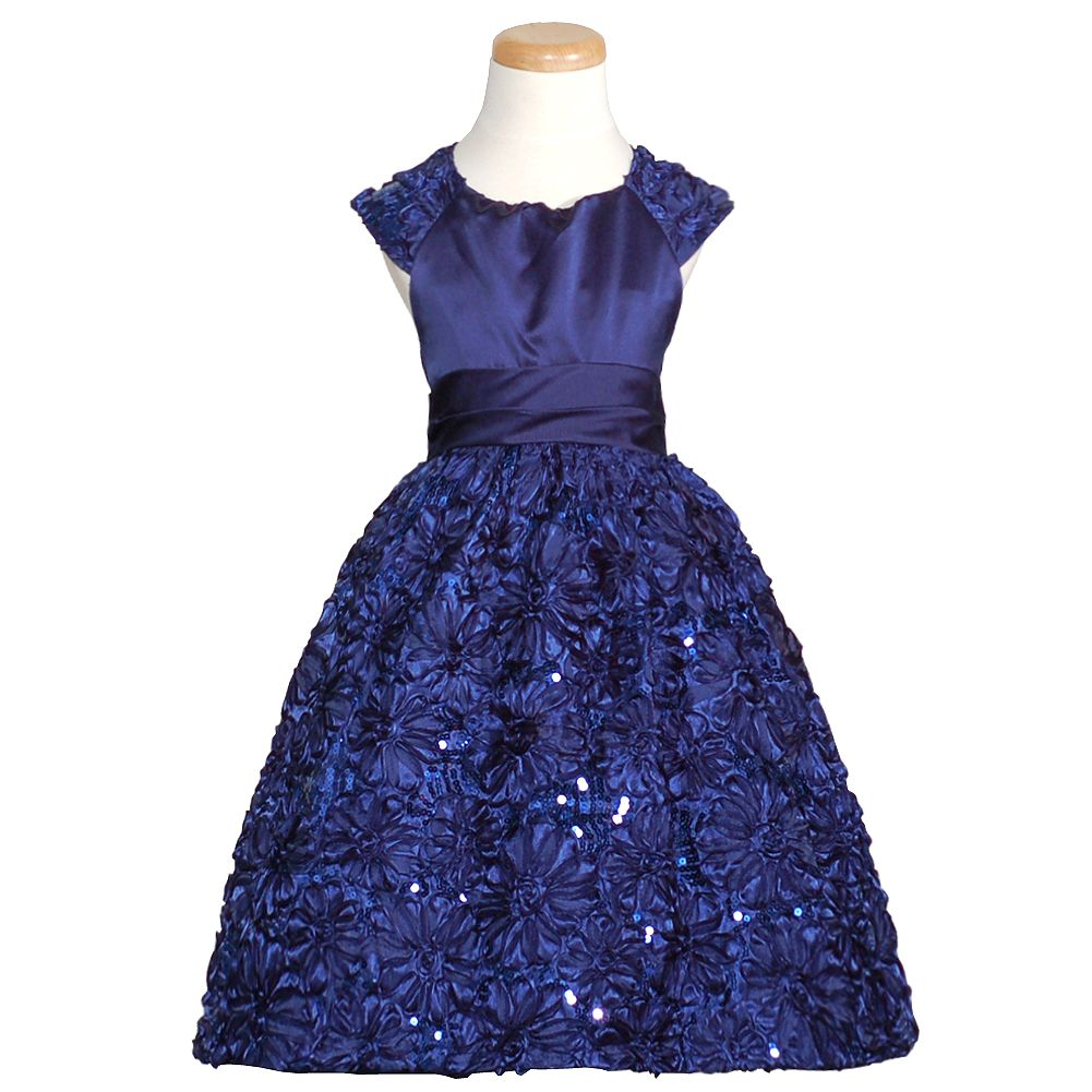 designer navy blue flower girl dresses | Your feedback is submitted. Thank you for helping us improve! Tell us ...