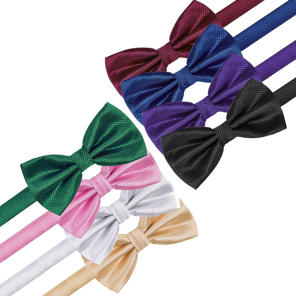 AUSKY 8 PACKS Elegant Adjustable Pre-tied bow ties for Men Boys in Different Colors(1/&5/&6/&8Pack for option