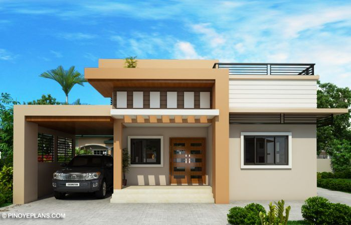 Kassandra Two Storey House Design With Roof Deck Pinoy Eplans House Roof Design Two Storey House 2 Storey House Design