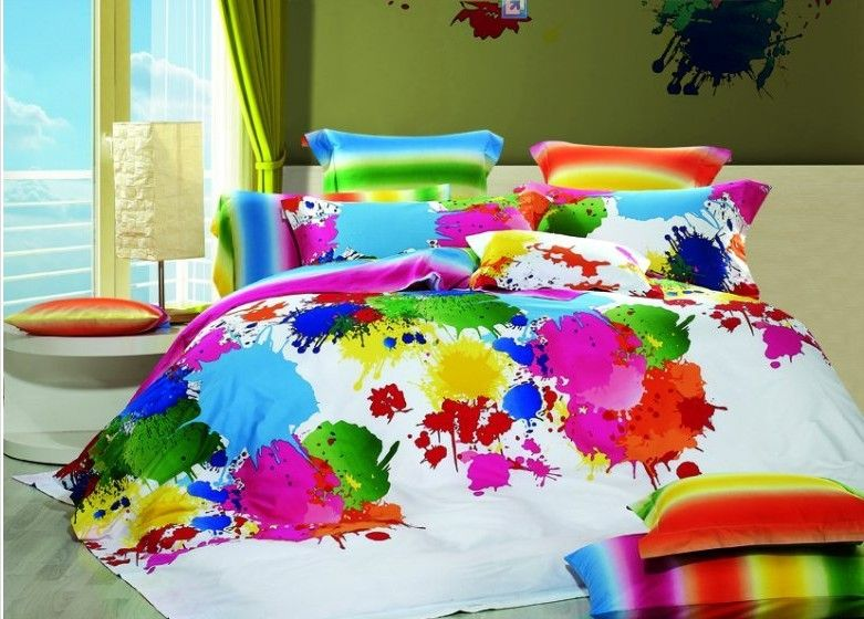 Hot Sales Milk Cow Dotted King Bed Quilt Doona Duvet Cover Set New 100 Cotton Bedding Sets Colorful Bedding Sets Queen Bedding Sets