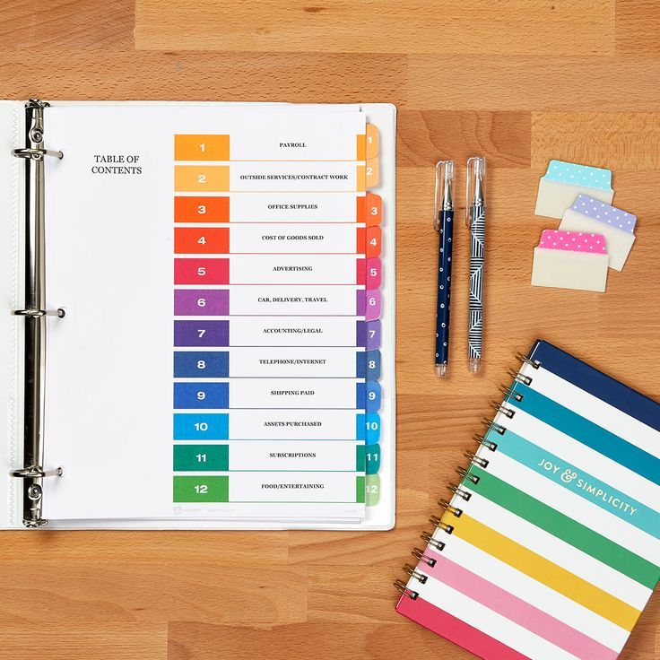 Organize your small business with Avery dividers