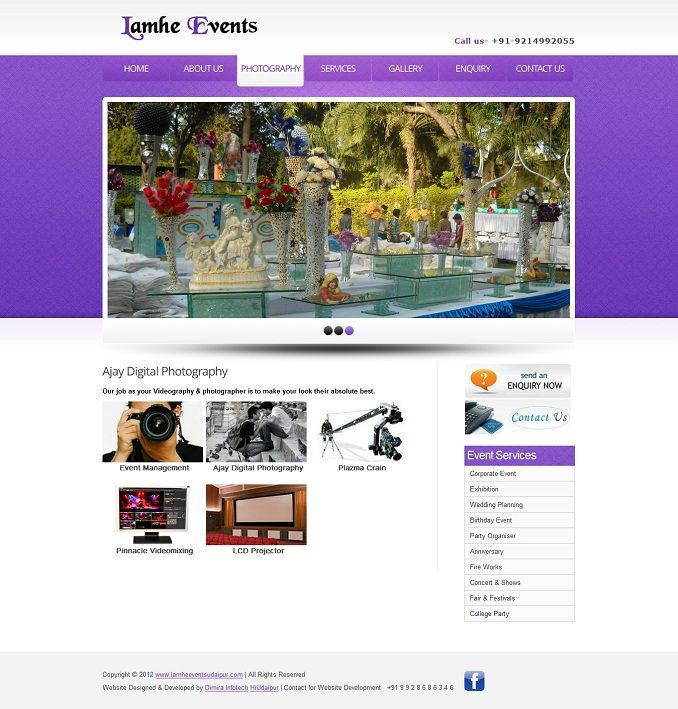 3 Event Management Website Design Templates