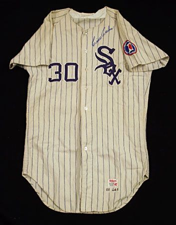 lot detail cisco carlos 1968 chicago white sox game worn home jersey