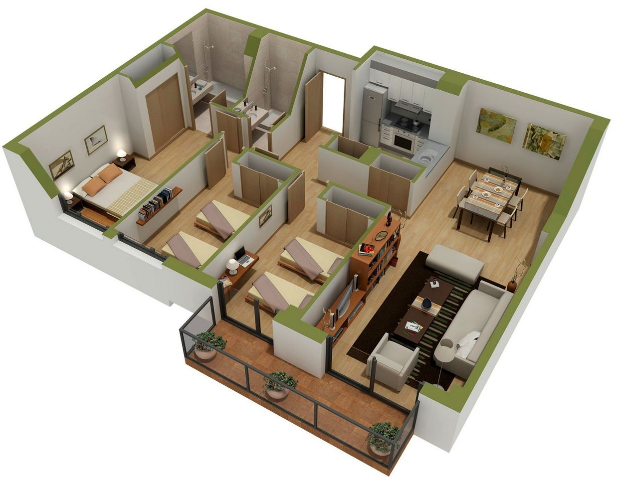 three bedroom house apartment floor plans layout first and second plan walk  closet design