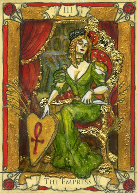 Original Tarot Card Drawn For The Forthcoming Penny