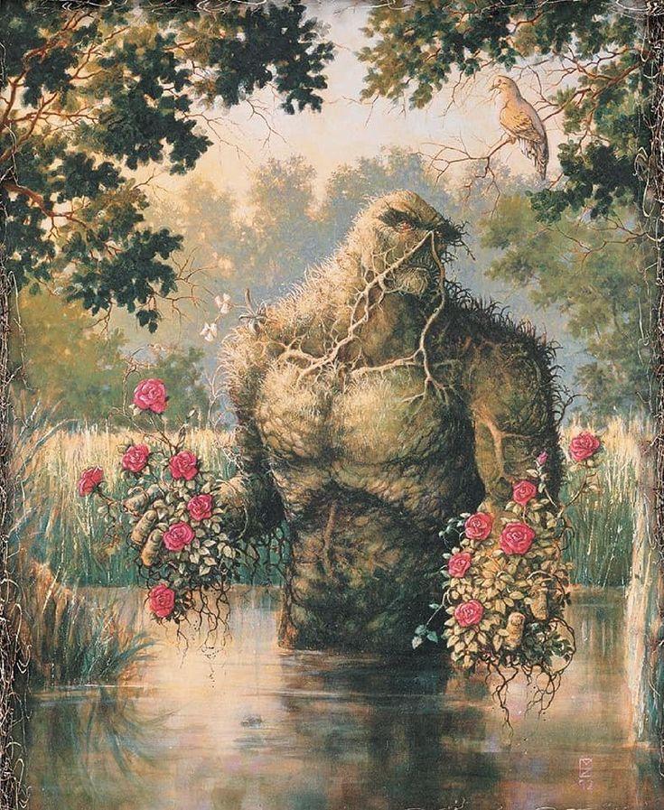Swamp Thing by Michael Zulli #MichaelZulli #SwampThing #DrAlecHolland #JusticeLeagueDark #TheGreen #ParliamentofTrees #swampthing