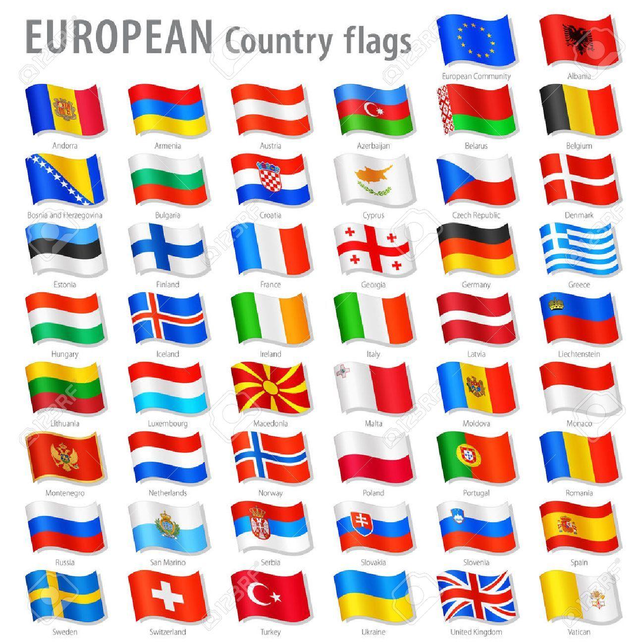 drapeau avec les nom