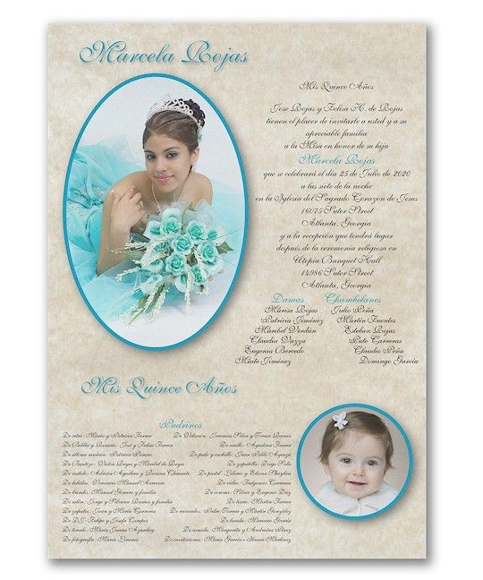 All Grown Up Quince Aos Invitation Scroll Quinceaera Invitations