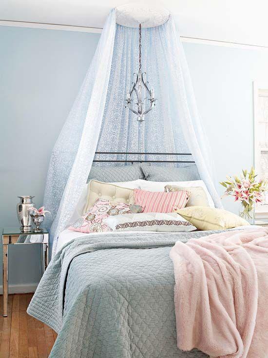 23 Brilliant Blue Color Schemes For Every Design Style Blue And Pink Bedroom Feminine Bedroom Feminine Bedroom Design
