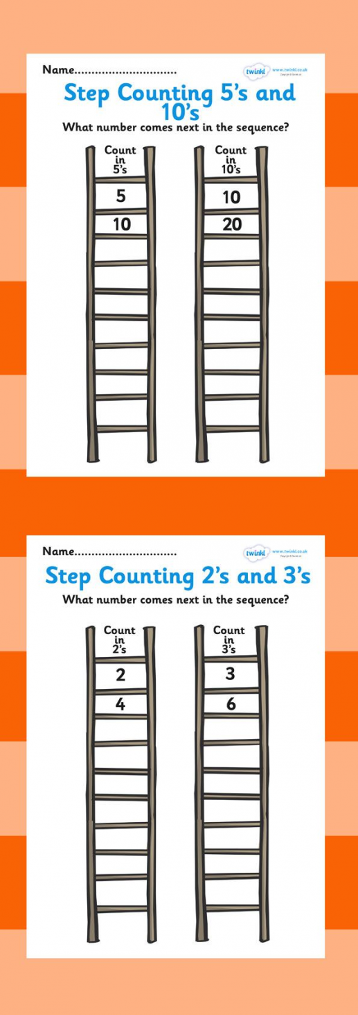 Photo of Free Printable: Step Counting Worksheet. Great to laminate and re-use with dry-e…