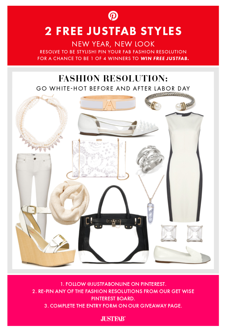 For a chance to win free shoes & bags, enter JustFab's New Year, New Look Giveaway.