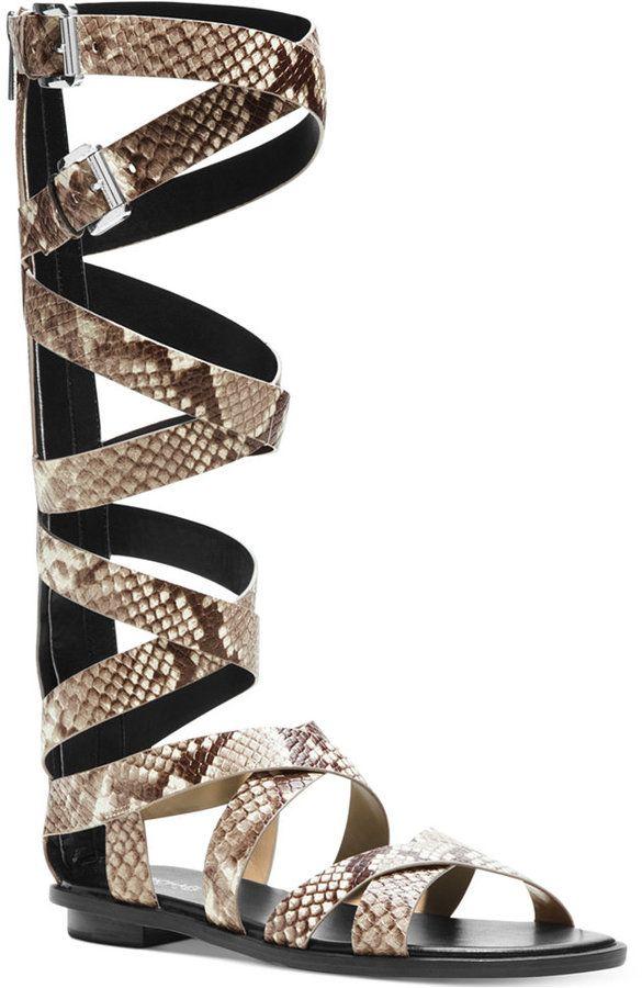 0e059658aad5 MICHAEL Michael Kors Darby Tall Printed Snake Gladiator Sandals ...