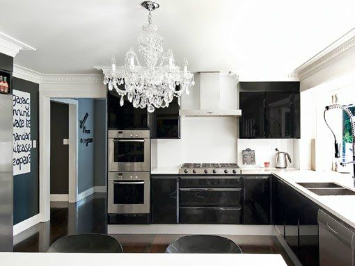 Crystal Chandelier In The Kitchen  Chandeliers And Kitchens Prepossessing Chandelier Kitchen Design Ideas