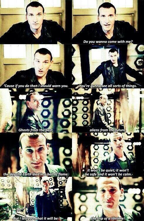 The trip of a lifetime! Ninth Doctor. YES