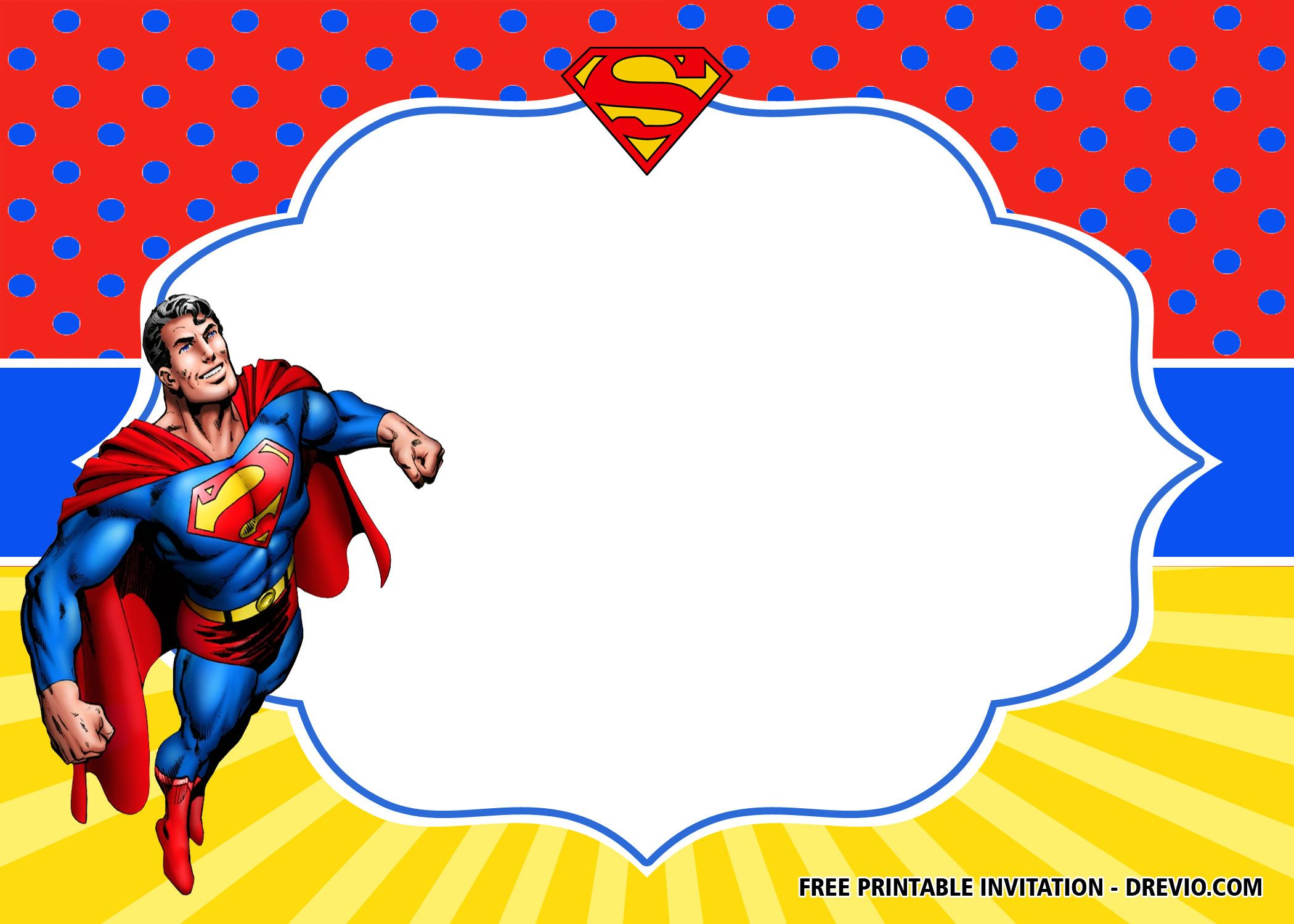 Free Superhero Superman Birthday Invitation Templates Superhero Invitations Birthday Invitation Templates Superman Birthday