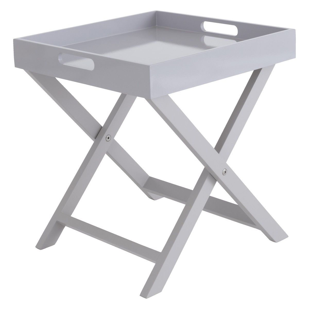 Beautiful OKEN Grey Folding Side Table