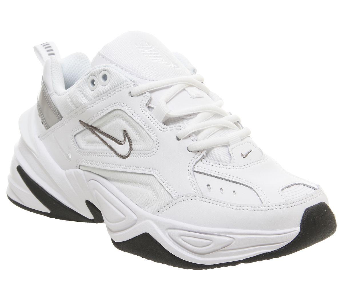 Nike M2k Tekno Trainers White Cool Grey Black - Hers ...