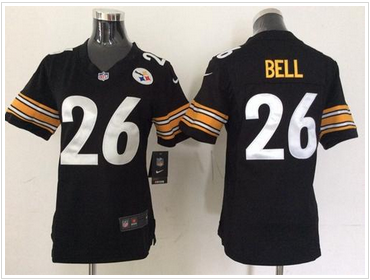 Women s NEW Steelers  26 Le Veon Bell Black Team Color NFL Elite Jersey 8aeae6998