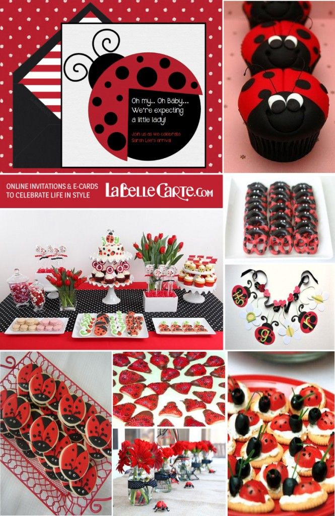 LadyBug Baby Shower: Ideas and Online Invitations for a Polka Dot ...