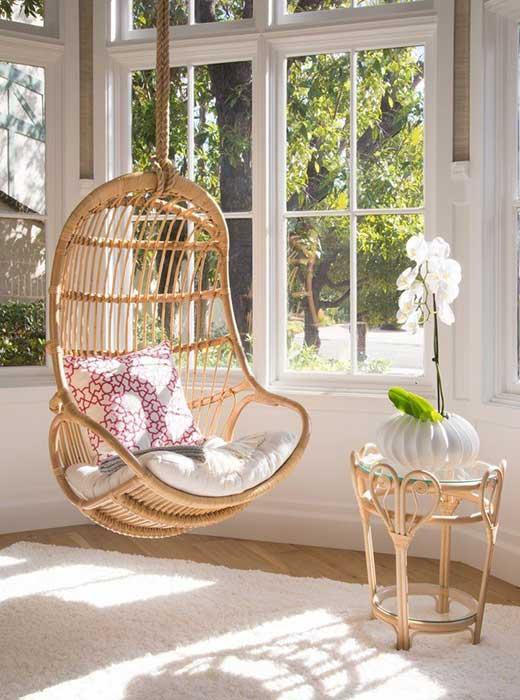 Natural Rattan Egg Swings In 2020 Swing Chair For Bedroom Hanging Egg Chair Hanging Swing Chair